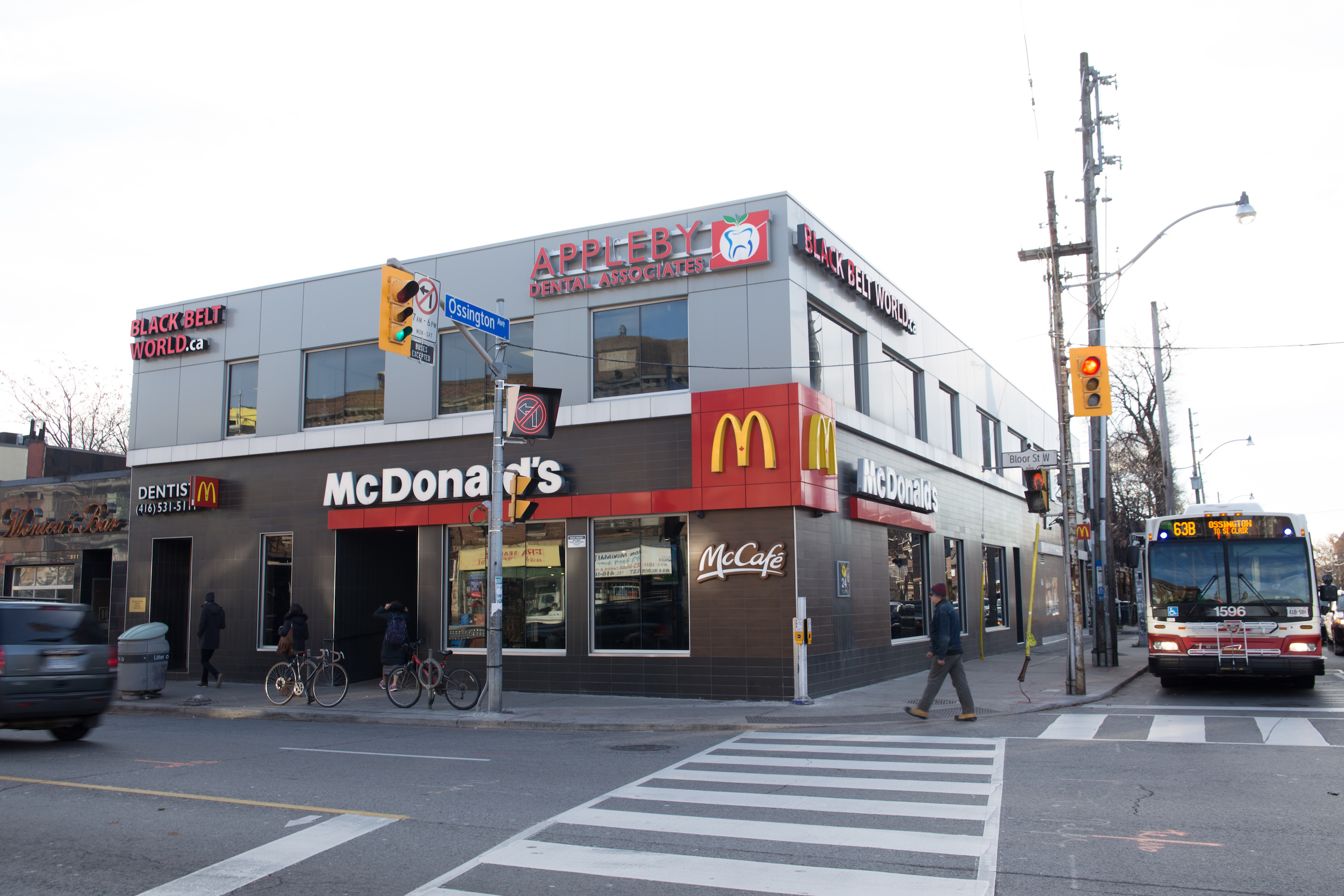 Streetview of commercial property with tenants like McDonalds
